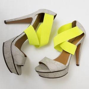 Michael Antonio Tamms Neon Heels